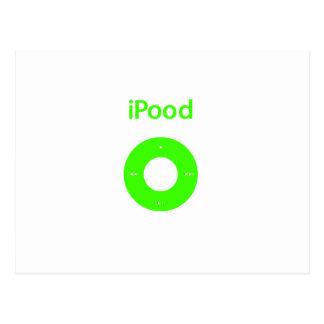 Ipod spoof Ipood green Postcard