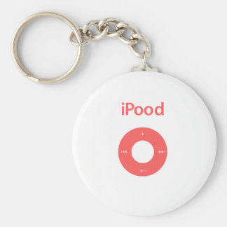 Ipod spoof Ipood pink Basic Round Button Keychain