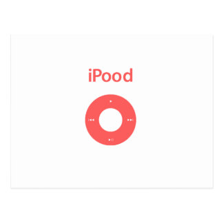 Ipod spoof Ipood pink Postcard