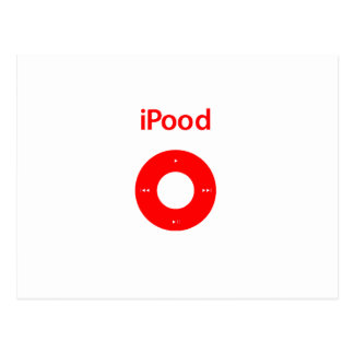 Ipod spoof Ipood red Postcard