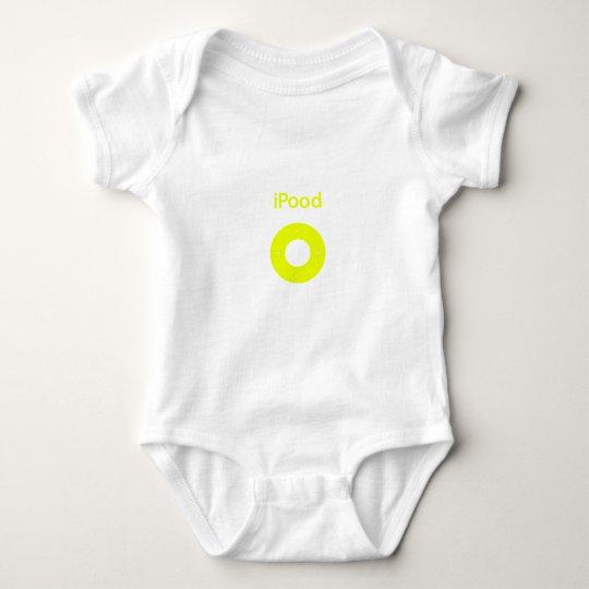 Ipod spoof Ipood yellow Baby Bodysuit