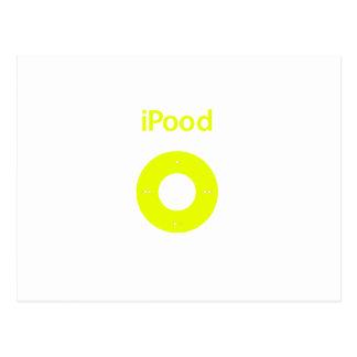 Ipod spoof Ipood yellow Postcard