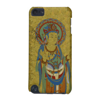 iPod Touch4G - Guan Yin Buddha Maple Leaf Backgr iPod Touch 5G Covers