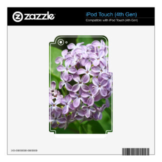 iPod Touch 4 skin with photo of beautiful purple l Skin For iPod Touch 4G