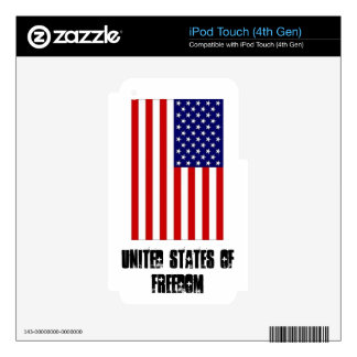 Ipod Touch (4th Gen) Skin United States of Freedom iPod Touch 4G Decals
