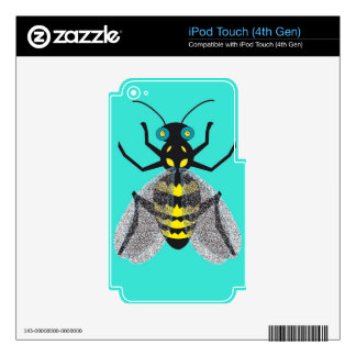 iPod Touch 4th Gen Skin with Colorful Bee Decals For iPod Touch 4G