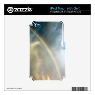 iPod Touch 4th skin with photo of pretty rainbow iPod Touch 4G Decal