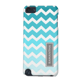 iPod Touch 5g Blue Ombre Chevron Custom Name iPod Touch (5th Generation) Case
