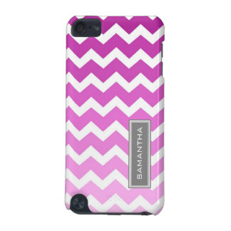 iPod Touch 5g Pink Ombre Chevron Custom Name iPod Touch (5th Generation) Covers