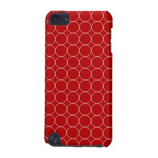 iPod Touch 5g Red White Circles Pattern iPod Touch (5th Generation) Cover