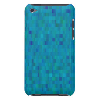 iPod Touch Aqua Squares modern pattern Barely There iPod Cover