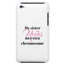 "iPod Touch, Barely There Case ""sister"""
