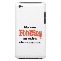 "iPod Touch, Barely There Case ""son rocks"""