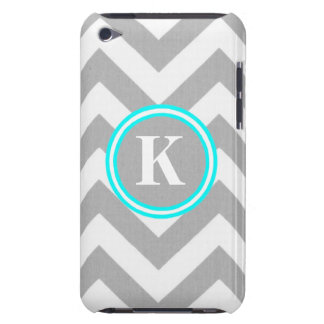 iPod Touch Case - Design: Grey Chevron w/Monogram