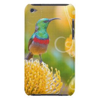 iPod Touch Case Hummingbird on Yellow Flower