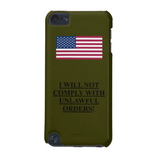ipod Touch Case OD Green w/ American flag /I WILL