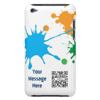 iPod Touch Case Template Paint Splatter