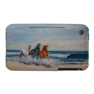 iPod Touch CaseMate BarelyThere, Horses in theSurf iPhone 3 Cover