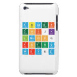 Abcdef ghijk lmnopq rstuv wxy&z  iPod Touch Cases
