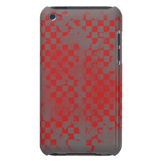Ipod Touch Red on Gray Checker iPod Touch Cover