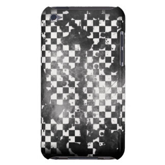 Ipod Touch White on Black Checker iPod Touch Case
