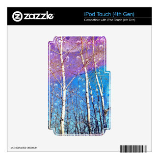 """IPod with print """"Promise Me Spring"""" iPod Touch 4G Skin"""