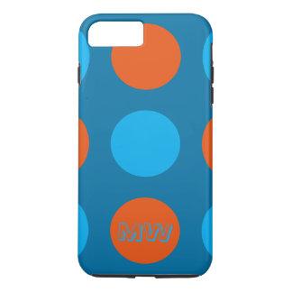 iPone Cover, Polka Dot Design, Blue & Orange iPhone 7 Plus Case