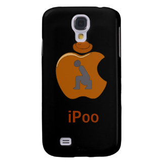 iPoo - Funny iPhone Cases (black) Samsung Galaxy S4 Case