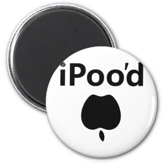 iPoo'd 2 Inch Round Magnet