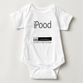 iPood You Wish it Was This Easy White Baby Bodysuit