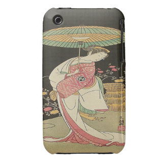 Ippitsusai, Beauty with Umbrella Blackberry Curve  Case-Mate iPhone 3 Case