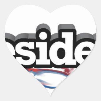iPRESIDENT Heart Sticker