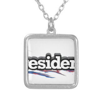 iPRESIDENT Silver Plated Necklace