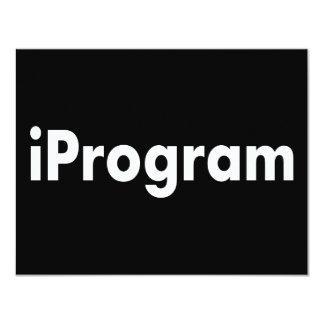 """iProgram Invitación 4.25"""" X 5.5"""""""