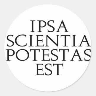 Ipsa Scientia Potestas Est Stickers