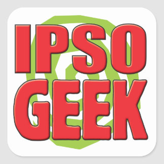 Ipso Geek Square Stickers