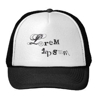 ipsum del lorem, arte abstracto de la palabra, tex gorra