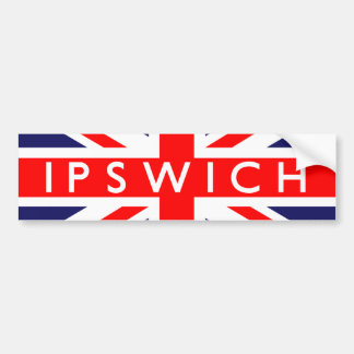 Ipswich : British Flag Bumper Sticker