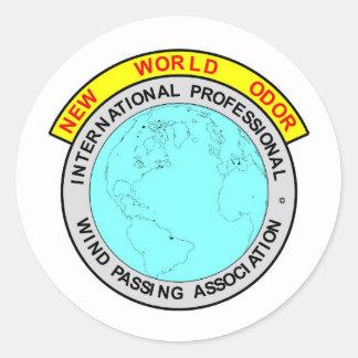 IPWPA UNION LOGO CLASSIC ROUND STICKER