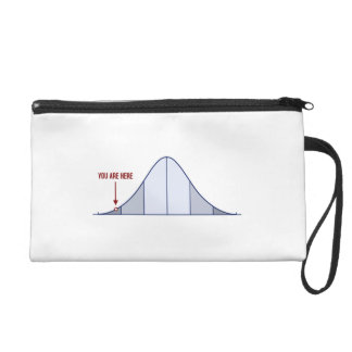 IQ Bell Curve You Are Here Wristlet Purses