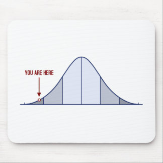 IQ Bell Curve You Are Here Mouse Pad