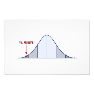 IQ Bell Curve You Are Here Stationery