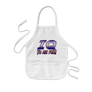 IQ to Die For. Kids' Apron