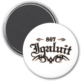 Iqaluit 867 3 inch round magnet