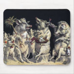 Ir de fiesta cerdos alfombrilla de raton