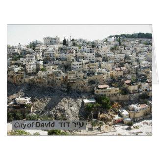 Ir Dovid, la ciudad de David, parte posterior: El Tarjeta De Felicitación Grande