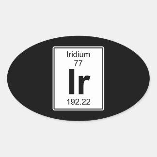 Ir - Iridium Oval Sticker