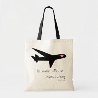 Ir volando con nosotros bolsas lienzo