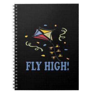 Ir volando libro de apuntes con espiral