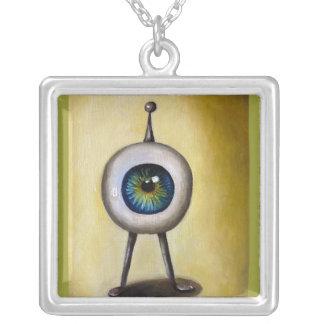 Ira little alien series square pendant necklace